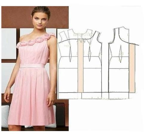 آموزش مدل لباس مجلسی همراه با الگو