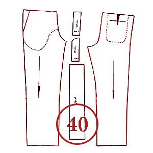 الگوی شلوار تک سایز 40 مردانه