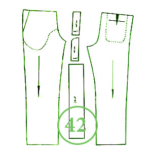 الگوی شلوار تک سایز 42 مردانه