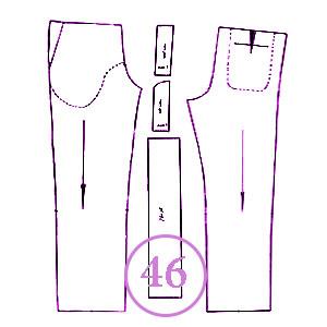 الگوی شلوار تک سایز 46 مردانه