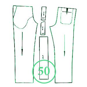 الگوی شلوار تک سایز 50 مردانه