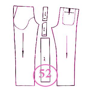 الگوی شلوار تک سایز 52 مردانه
