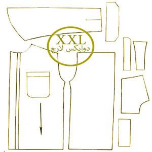 الگوی پیراهن تک سایز XXL مردانه