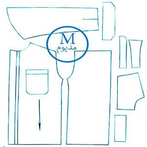 الگوی پیراهن تک سایز M مردانه