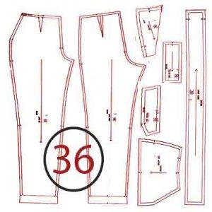 الگوی شلوار ترک سایز 36