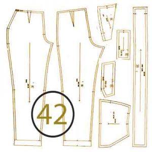 الگوی شلوار ترک سایز 42