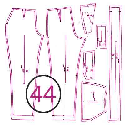 الگوی شلوار ترک سایز 44