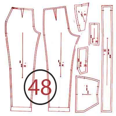 الگوی شلوار ترک سایز 48
