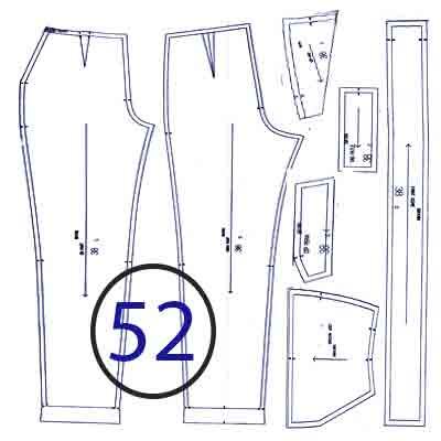 الگوی شلوار ترک سایز 52