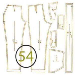 الگوی شلوار ترک سایز 54