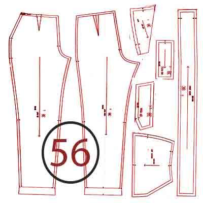 الگوی شلوار ترک سایز 56