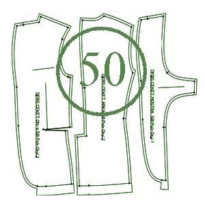 الگوی کت 50