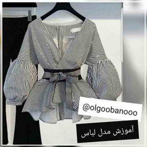رسم الگوی پیراهن کیمونو