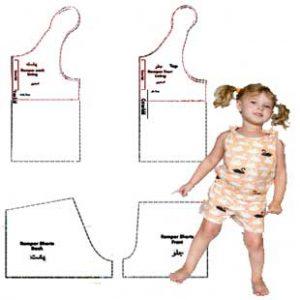 الگوی تاپ و شورتک کودک