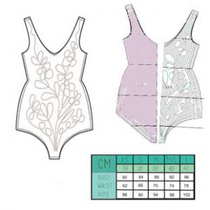 الگوی لباس شنا