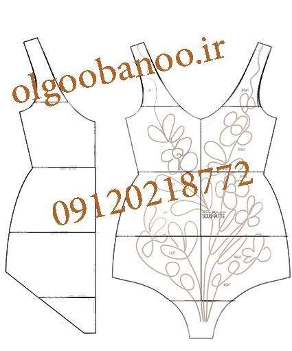 انواع الگوی لباس شنا